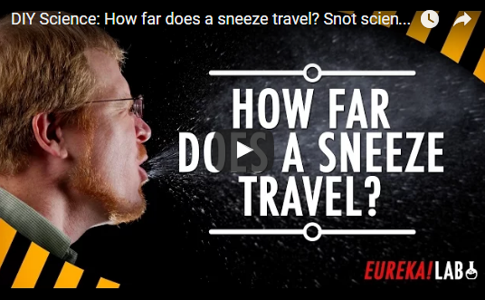 DIY Science: How far does a sneeze travel? Snot science!