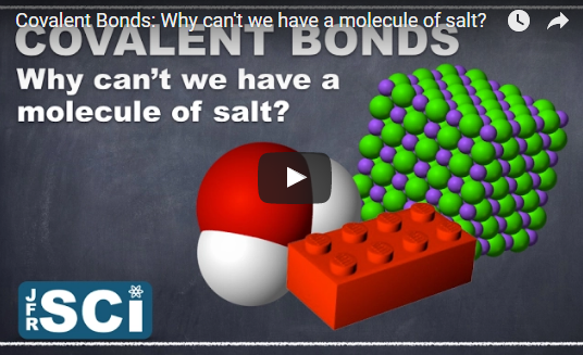 Covalent Bonds: Why can't we have a molecule of salt?