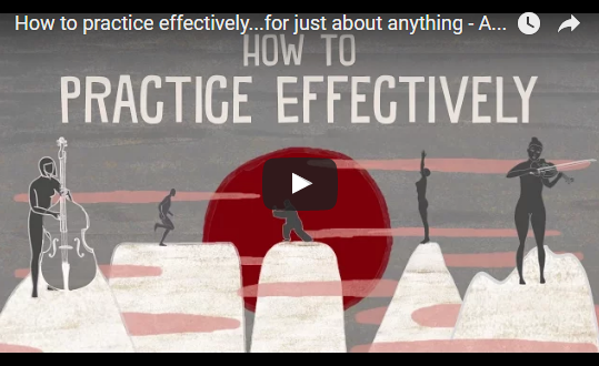 How to practice effectively…for just about anything – TED-Ed