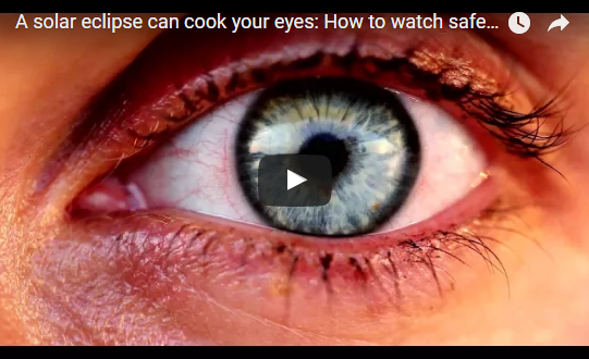 A solar eclipse can cook your eyes: How to watch safely, featuring STAO's own Ralph Chou