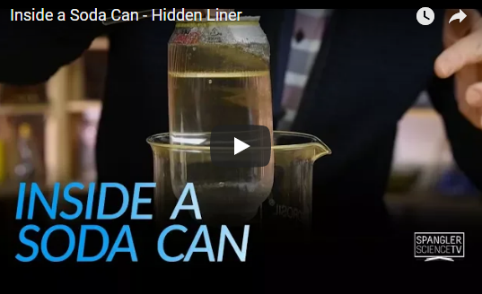 Inside a Soda Can – Hidden Liner – Steve Spangler