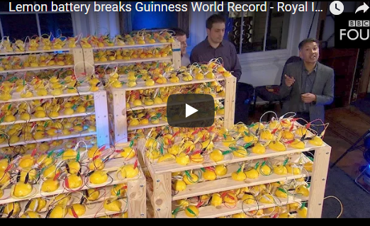 Lemon battery breaks Guinness World Record – Royal Institution Christmas Lectures 2016 – BBC Four