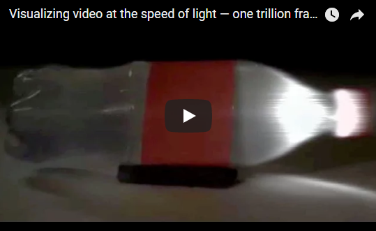 Visualizing video at the speed of light — one trillion frames per second