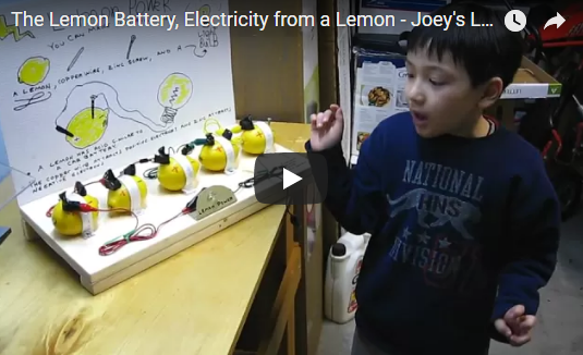 The Lemon Battery, Electricity from a Lemon – Joey's Lemon Battery