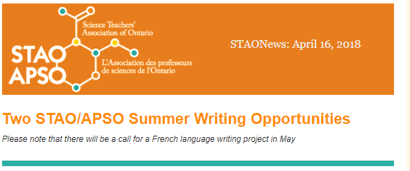 STAO Summer Writing Opportunities