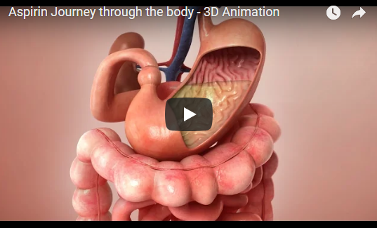 Aspirin Journey through the body – 3D Animation