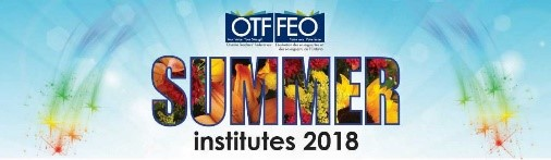 OTF Summer Institutes for Teachers