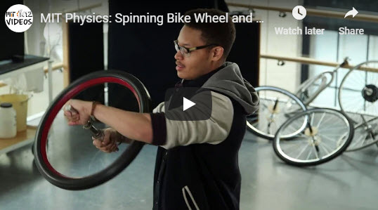 MIT Physics: Spinning Bike Wheel and Conservation of Angular Momentum