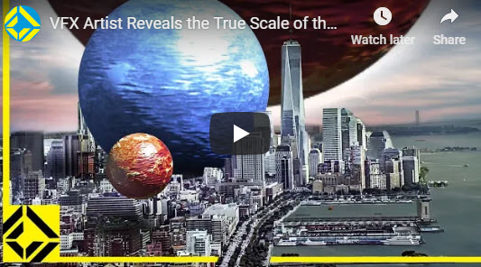 VFX Artist Reveals the True Scale of the Universe – submitted by Peter Cudmore