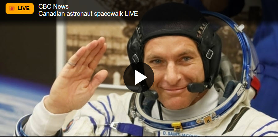 Canadian astronaut David Saint-Jacques takes 1st spacewalk – CBC News
