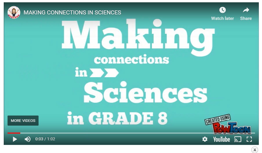 Making Connections In Grade 8 Sciences | STAO Connex by JULIE ARSENAULT-HOWICK