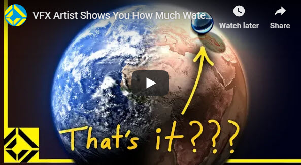 VFX Artist Shows You How Much Water is Actually on Earth – YouTube – submitted by Peter Cudmore
