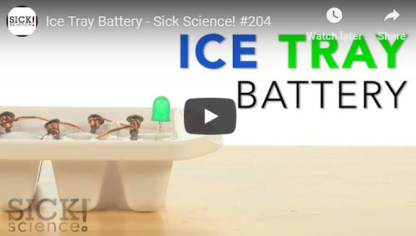 Ice-Tray Battery | Experiments | Steve Spangler Science
