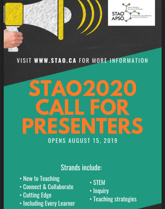 Call for Presenters for STAO 2020