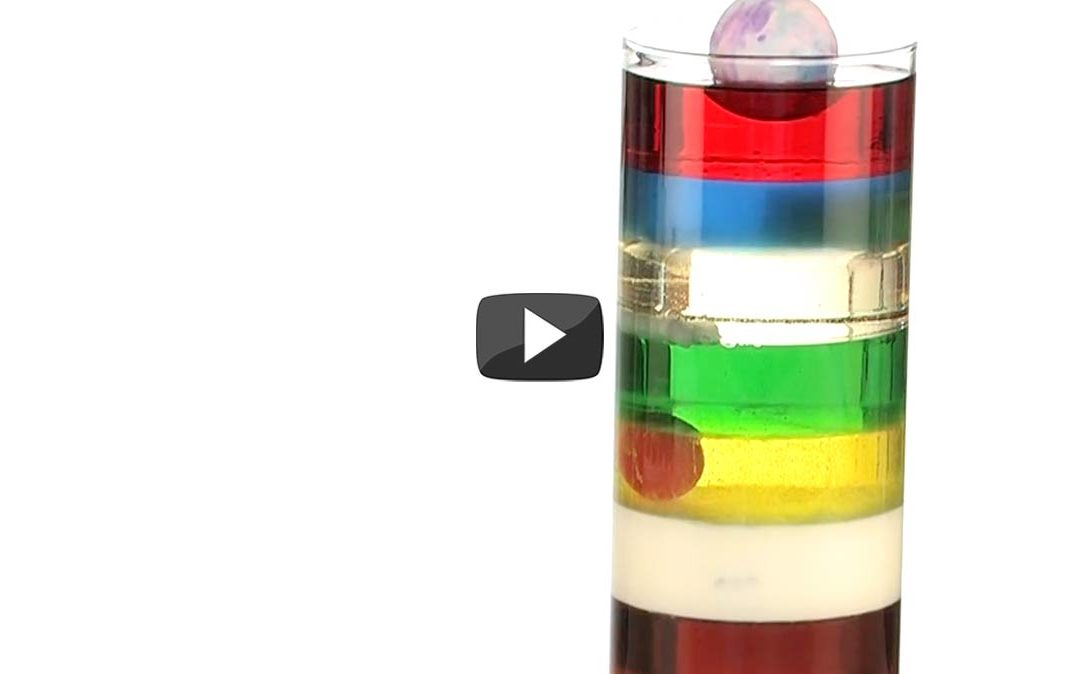 ? Experiment Of The Week – 9 Layer Density – by Steve Spangler