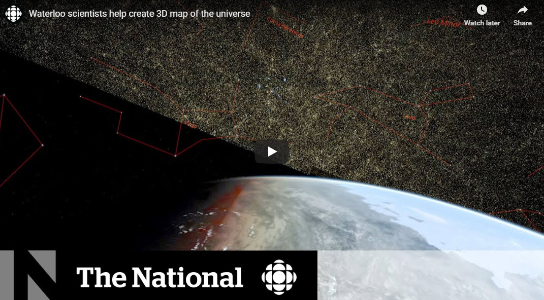 Waterloo scientists help create 3D map of the universe – CBC