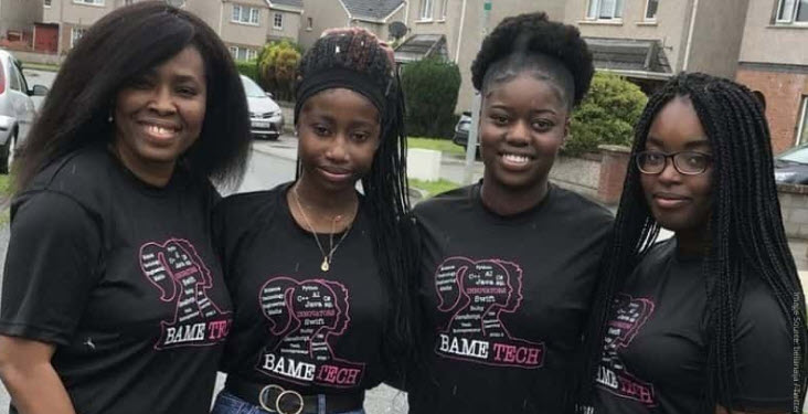 A team of Nigerian Irish teen girls just made an award-winning app for dementia patients – submitted by Gerrie Storr