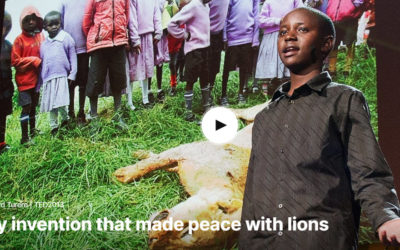 My invention that made peace with lions – TEd Talks for Kids